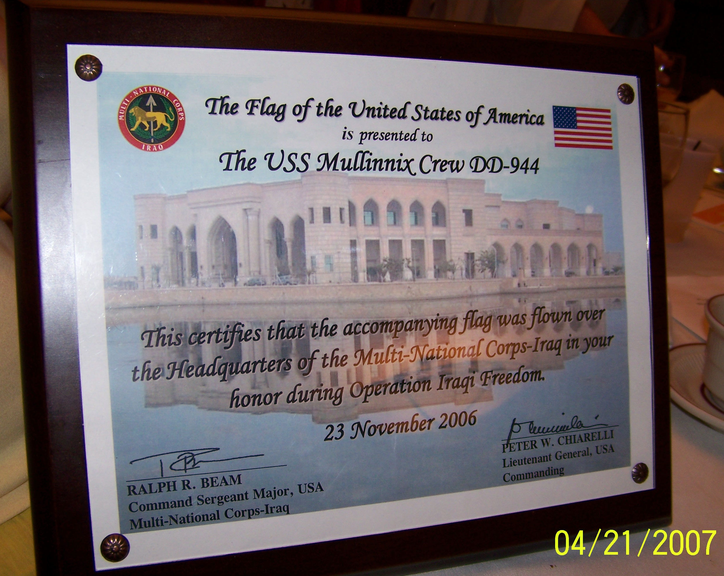 Iraq Plague 23 Nov 2006
