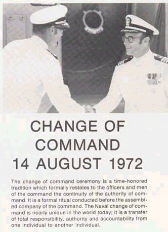 Change of Command 14 Aug 1972