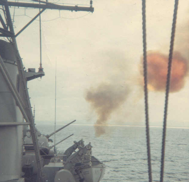 MT53 Shelling Enemy positions - Vietnam 1966